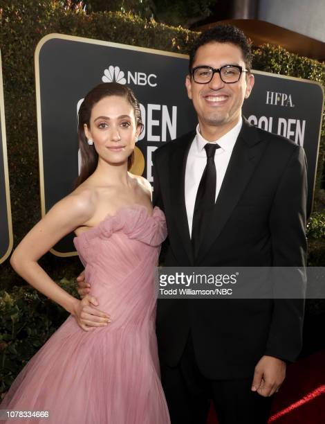 76th ANNUAL GOLDEN GLOBE AWARDS Pictured Emmy Rossum and Sam Esmail arrive to the 76th Annual Golden Globe Awards held at the Beverly Hilton Hotel on...