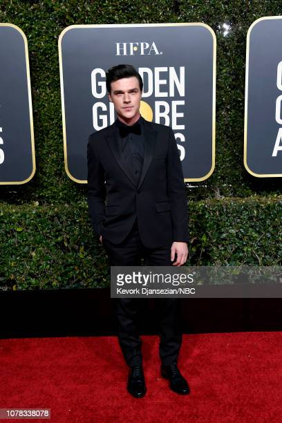 76th ANNUAL GOLDEN GLOBE AWARDS Pictured Finn Wittrock arrive to the 76th Annual Golden Globe Awards held at the Beverly Hilton Hotel on January 6...