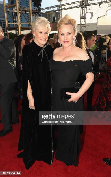 76th ANNUAL GOLDEN GLOBE AWARDS Pictured Glenn Close and Patricia Arquette arrive to the 76th Annual Golden Globe Awards held at the Beverly Hilton...