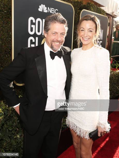 76th ANNUAL GOLDEN GLOBE AWARDS Pictured Hugh Grant and Anna Elisabet Eberstein arrive to the 76th Annual Golden Globe Awards held at the Beverly...