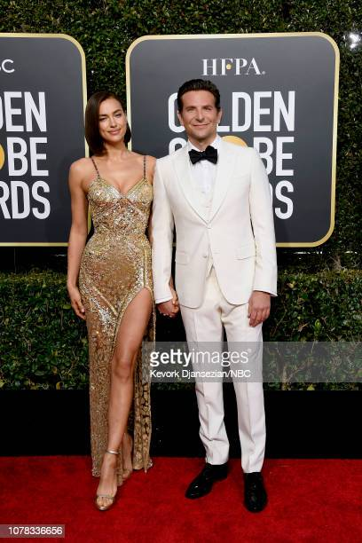76th ANNUAL GOLDEN GLOBE AWARDS Pictured Irina Shayk and Bradley Cooper arrive to the 76th Annual Golden Globe Awards held at the Beverly Hilton...