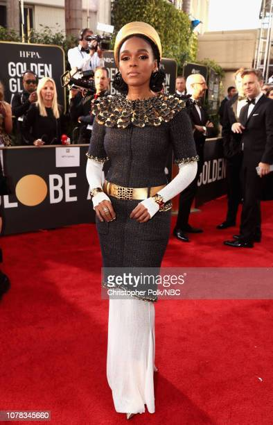 76th ANNUAL GOLDEN GLOBE AWARDS -- Pictured: Janelle Monáe arrive to the 76th Annual Golden Globe Awards held at the Beverly Hilton Hotel on January...