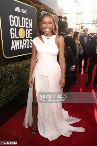 76th ANNUAL GOLDEN GLOBE AWARDS Pictured Janet Mock arrives to the 76th Annual Golden Globe Awards held at the Beverly Hilton Hotel on January 6 2019