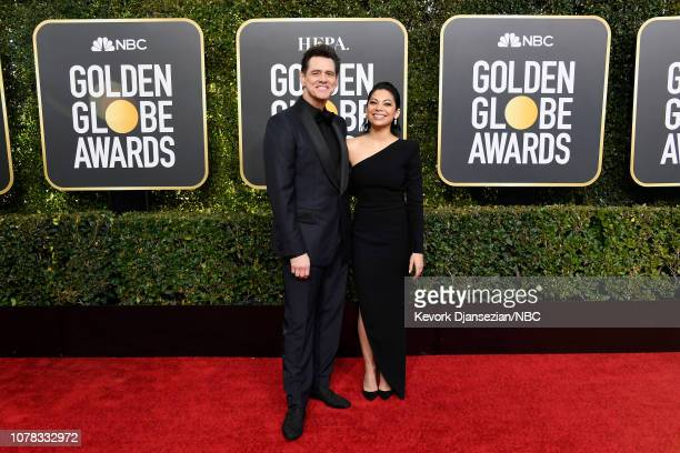 76th ANNUAL GOLDEN GLOBE AWARDS Pictured Jim Carrey and Ginger Gonzaga arrive to the 76th Annual Golden Globe Awards held at the Beverly Hilton Hotel...