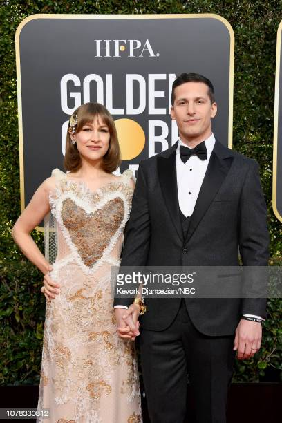 76th ANNUAL GOLDEN GLOBE AWARDS Pictured Joanna Newsom and Andy Samberg arrive to the 76th Annual Golden Globe Awards held at the Beverly Hilton...