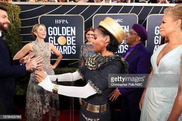 76th ANNUAL GOLDEN GLOBE AWARDS Pictured John Krasinski Emily Blunt Debra Messing Janelle Monae Spike Lee and Tonya Lewis Lee arrive to the 76th...