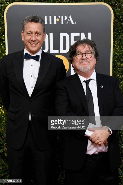 76th ANNUAL GOLDEN GLOBE AWARDS Pictured John Sloss and Charles B Wessler arrive to the 76th Annual Golden Globe Awards held at the Beverly Hilton...