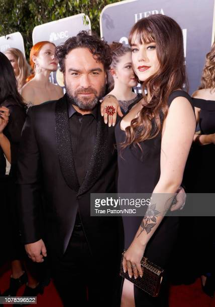 76th ANNUAL GOLDEN GLOBE AWARDS Pictured Johnny Galecki and Alaina Meyer arrive to the 76th Annual Golden Globe Awards held at the Beverly Hilton...