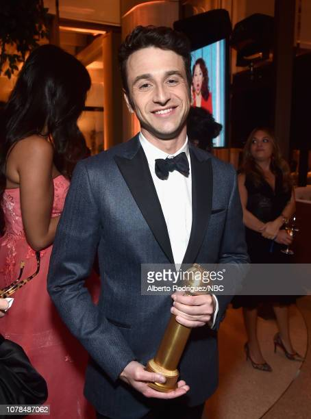76th ANNUAL GOLDEN GLOBE AWARDS Pictured Justin Hurwitz winner of the Best Original Score award for 'First Man' enjoys the NBCUniversal Golden Globe...