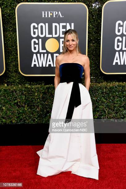 76th ANNUAL GOLDEN GLOBE AWARDS -- Pictured: Kaley Cuoco arrives to the 76th Annual Golden Globe Awards held at the Beverly Hilton Hotel on January...