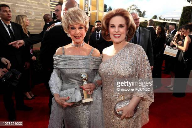 76th ANNUAL GOLDEN GLOBE AWARDS Pictured Karen Sharpe and Kat Kramer arrive to the 76th Annual Golden Globe Awards held at the Beverly Hilton Hotel...