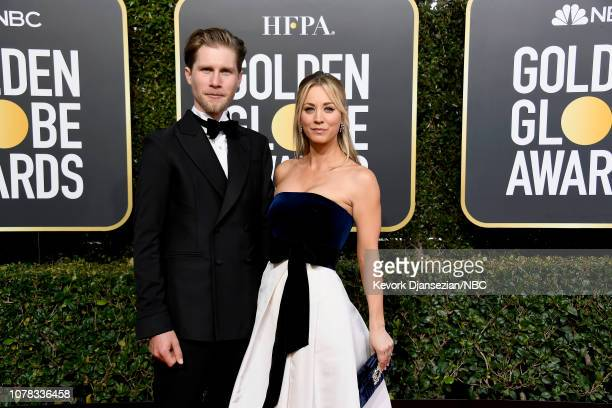 76th ANNUAL GOLDEN GLOBE AWARDS -- Pictured: Karl Cook and Kaley Cuoco arrive to the 76th Annual Golden Globe Awards held at the Beverly Hilton Hotel...