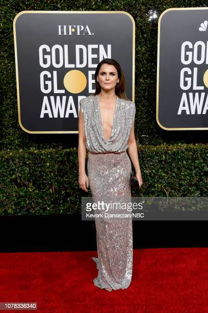 76th ANNUAL GOLDEN GLOBE AWARDS -- Pictured: Keri Russell arrives to the 76th Annual Golden Globe Awards held at the Beverly Hilton Hotel on January...