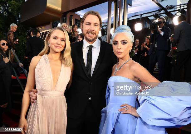 76th ANNUAL GOLDEN GLOBE AWARDS Pictured Kristen Bell Dax Shepard and Lady Gaga arrive to the 76th Annual Golden Globe Awards held at the Beverly...