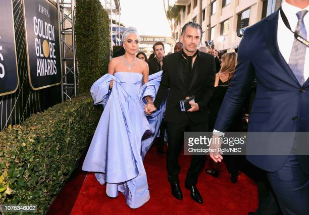 76th ANNUAL GOLDEN GLOBE AWARDS Pictured Lady Gaga and Christian Carino arrive to the 76th Annual Golden Globe Awards held at the Beverly Hilton...