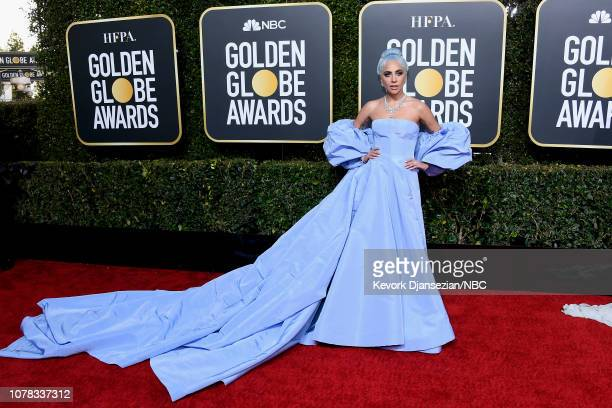76th ANNUAL GOLDEN GLOBE AWARDS -- Pictured: Lady Gaga arrives to the 76th Annual Golden Globe Awards held at the Beverly Hilton Hotel on January 6,...