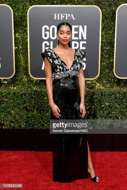 76th ANNUAL GOLDEN GLOBE AWARDS Pictured Laura Harrier arrives to the 76th Annual Golden Globe Awards held at the Beverly Hilton Hotel on January 6...