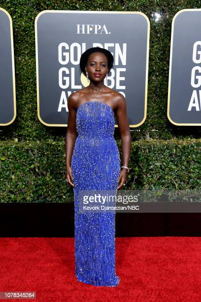 76th ANNUAL GOLDEN GLOBE AWARDS Pictured Lupita Nyong'o arrives to the 76th Annual Golden Globe Awards held at the Beverly Hilton Hotel on January 6...