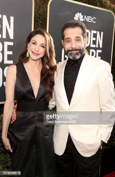 76th ANNUAL GOLDEN GLOBE AWARDS Pictured Marin Hinkle and Tony Shalhoub arrive to the 76th Annual Golden Globe Awards held at the Beverly Hilton...