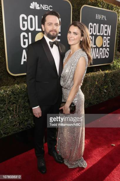 76th ANNUAL GOLDEN GLOBE AWARDS -- Pictured: Matthew Rhys and Keri Russell arrive to the 76th Annual Golden Globe Awards held at the Beverly Hilton...