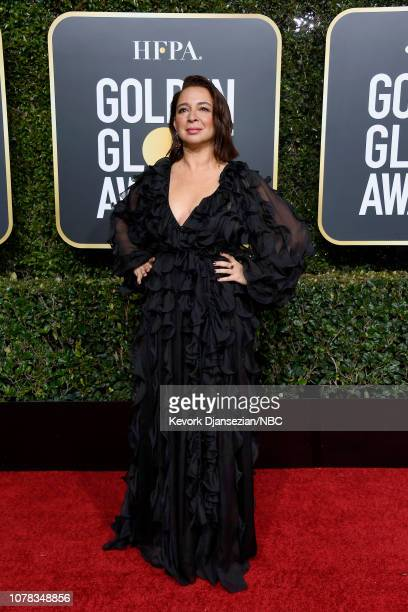 76th ANNUAL GOLDEN GLOBE AWARDS Pictured Maya Rudolph arrives to the 76th Annual Golden Globe Awards held at the Beverly Hilton Hotel on January 6...