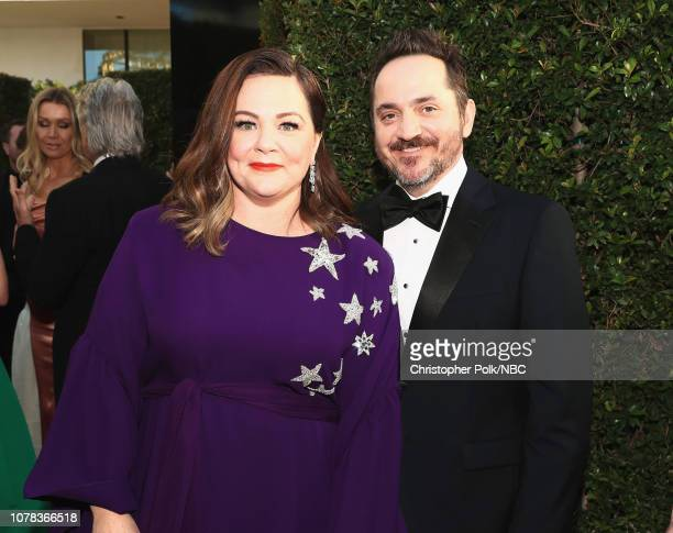76th ANNUAL GOLDEN GLOBE AWARDS Pictured Melissa McCarthy and Ben Falcone arrive to the 76th Annual Golden Globe Awards held at the Beverly Hilton...