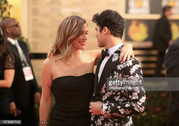 76th ANNUAL GOLDEN GLOBE AWARDS Pictured Mia Swier and Darren Criss arrive to the 76th Annual Golden Globe Awards held at the Beverly Hilton Hotel on...