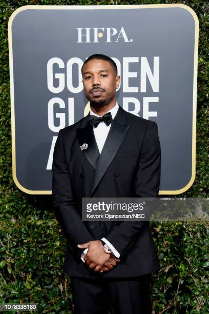 76th ANNUAL GOLDEN GLOBE AWARDS Pictured Michael B Jordan arrives to the 76th Annual Golden Globe Awards held at the Beverly Hilton Hotel on January...