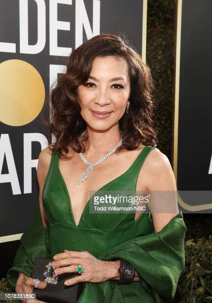 76th ANNUAL GOLDEN GLOBE AWARDS Pictured Michelle Yeoh arrive to the 76th Annual Golden Globe Awards held at the Beverly Hilton Hotel on January 6...