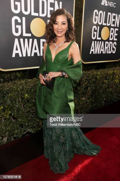 76th ANNUAL GOLDEN GLOBE AWARDS Pictured Michelle Yeoh arrives to the 76th Annual Golden Globe Awards held at the Beverly Hilton Hotel on January 6...