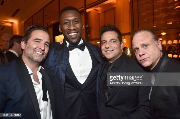 76th ANNUAL GOLDEN GLOBE AWARDS -- Pictured: Mike Hatton, Mahershala Ali and Craig DiFrancia enjoy the NBCUniversal Golden Globe Awards After-Party...