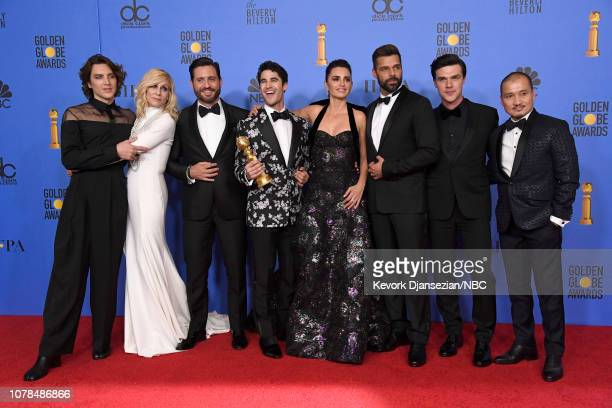 76th ANNUAL GOLDEN GLOBE AWARDS Pictured Outstanding Limited Series award for 'The Assassination of Gianni Versace American Crime Story' winners Cody...