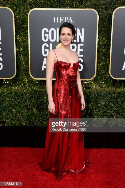 76th ANNUAL GOLDEN GLOBE AWARDS Pictured Phoebe WallerBridge arrive to the 76th Annual Golden Globe Awards held at the Beverly Hilton Hotel on...
