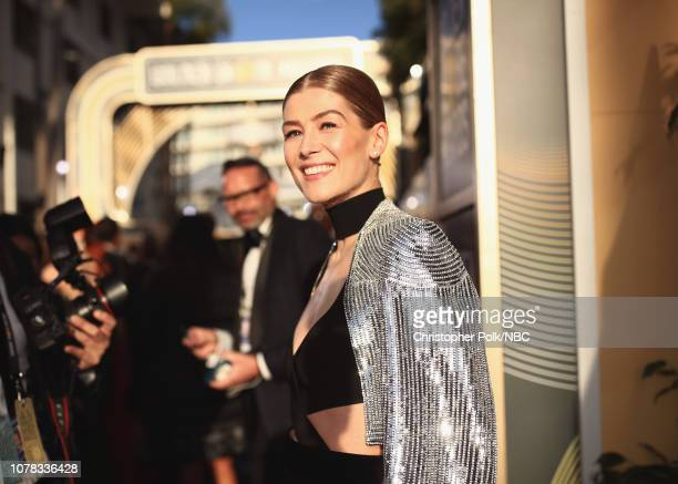76th ANNUAL GOLDEN GLOBE AWARDS Pictured Rosamund Pike arrives to the 76th Annual Golden Globe Awards held at the Beverly Hilton Hotel on January 6...