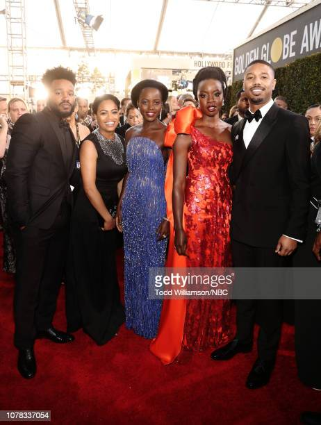 76th ANNUAL GOLDEN GLOBE AWARDS Pictured Ryan Coogler Zinzi Evans Lupita Nyong'o Danai Gurira and Michael B Jordan arrive to the 76th Annual Golden...