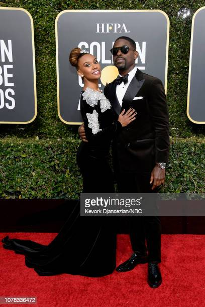 76th ANNUAL GOLDEN GLOBE AWARDS Pictured Ryan Michelle Bathe and Sterling K Brown arrive to the 76th Annual Golden Globe Awards held at the Beverly...