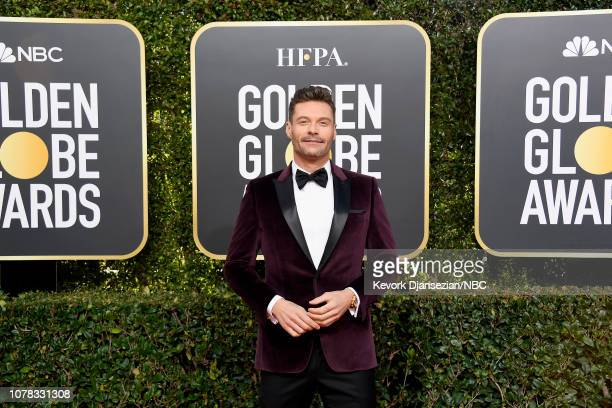 76th ANNUAL GOLDEN GLOBE AWARDS Pictured Ryan Seacrest arrives to the 76th Annual Golden Globe Awards held at the Beverly Hilton Hotel on January 6...