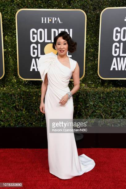 76th ANNUAL GOLDEN GLOBE AWARDS Pictured Sandra Oh arrives to the 76th Annual Golden Globe Awards held at the Beverly Hilton Hotel on January 6 2019