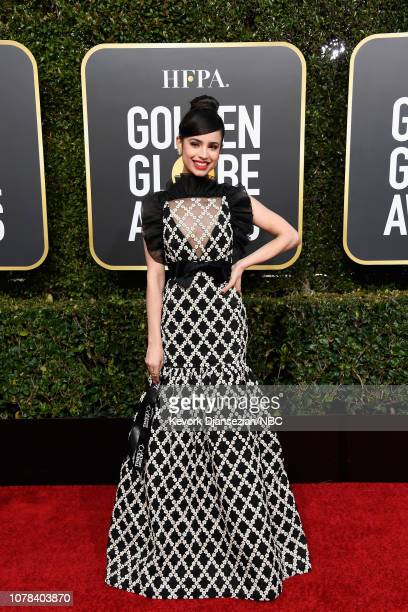 76th ANNUAL GOLDEN GLOBE AWARDS Pictured Sofia Carson arrives to the 76th Annual Golden Globe Awards held at the Beverly Hilton Hotel on January 6...