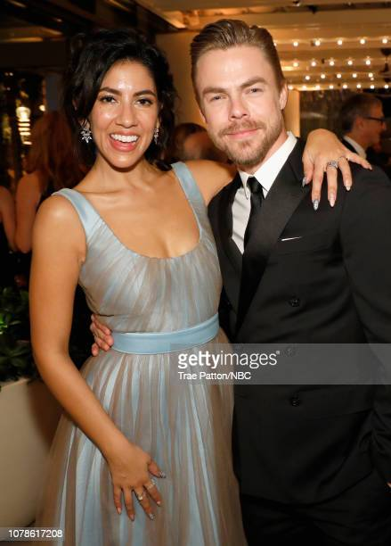 76th ANNUAL GOLDEN GLOBE AWARDS Pictured Stephanie Beatriz and Derek Hough enjoy the NBCUniversal Golden Globe Awards AfterParty Sunday January 6...