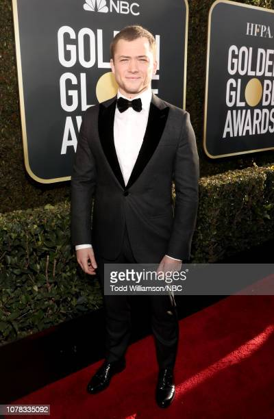 76th ANNUAL GOLDEN GLOBE AWARDS Pictured Taron Egerton arrive to the 76th Annual Golden Globe Awards held at the Beverly Hilton Hotel on January 6...