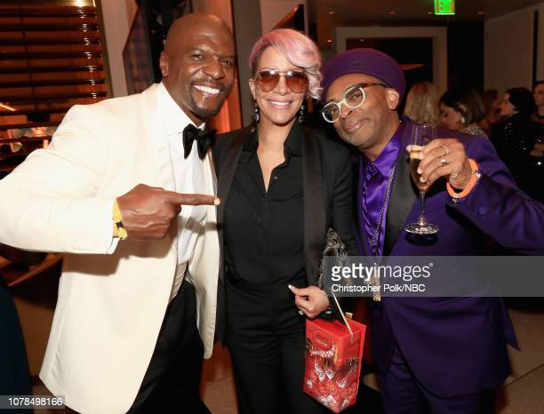 76th ANNUAL GOLDEN GLOBE AWARDS Pictured Terry Crews Rebecca KingCrews and Spike Lee enjoy the NBCUniversal Golden Globe Awards AfterParty Sunday...