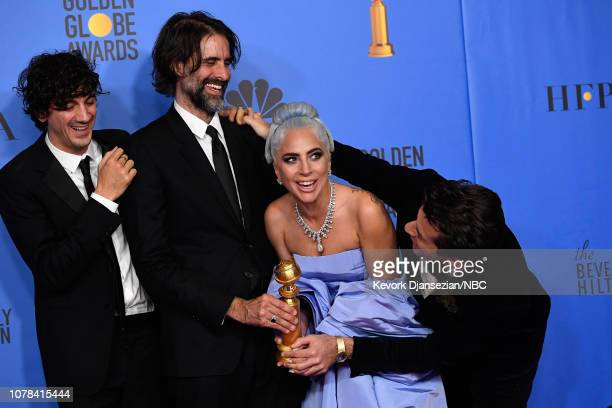 76th ANNUAL GOLDEN GLOBE AWARDS Pictured Winners for Best Original Song Motion Picture for 'Shallow A Star is Born' Mark Ronson Lady Gaga Andrew...