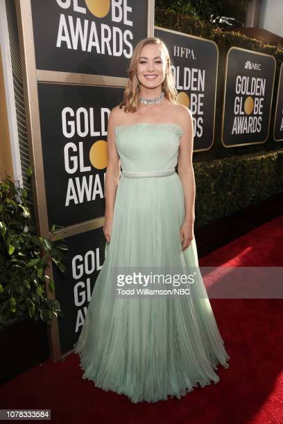 76th ANNUAL GOLDEN GLOBE AWARDS Pictured Yvonne Strahovski arrive to the 76th Annual Golden Globe Awards held at the Beverly Hilton Hotel on January...