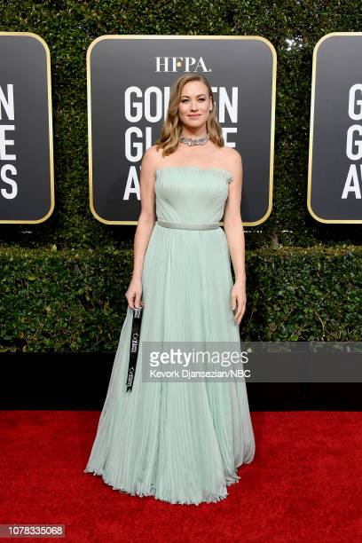 76th ANNUAL GOLDEN GLOBE AWARDS -- Pictured: Yvonne Strahovski arrives to the 76th Annual Golden Globe Awards held at the Beverly Hilton Hotel on...