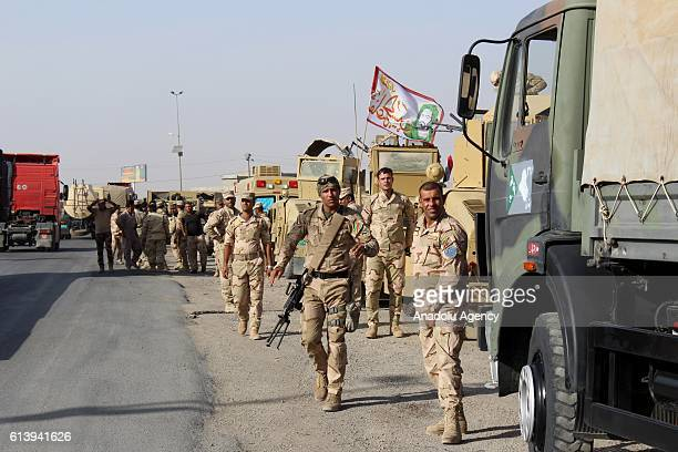 76th Brigade Command of Iraqi army forces move forward to Mahmour region of Mosul after leaving Kirkuk within the operation staging to retake Iraq's...