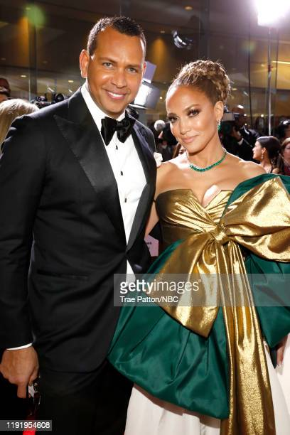 77th ANNUAL GOLDEN GLOBE AWARDS Pictured Alex Rodriguez and Jennifer Lopez arrive to the 77th Annual Golden Globe Awards held at the Beverly Hilton...