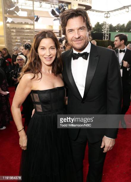 77th ANNUAL GOLDEN GLOBE AWARDS Pictured Amanda Anka and Jason Bateman arrive to the 77th Annual Golden Globe Awards held at the Beverly Hilton Hotel...
