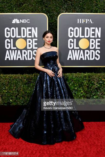 77th ANNUAL GOLDEN GLOBE AWARDS Pictured Ana de Armas arrives to the 77th Annual Golden Globe Awards held at the Beverly Hilton Hotel on January 5...