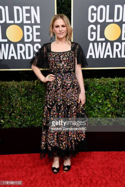 77th ANNUAL GOLDEN GLOBE AWARDS Pictured Anna Paquin arrives to the 77th Annual Golden Globe Awards held at the Beverly Hilton Hotel on January 5 2020